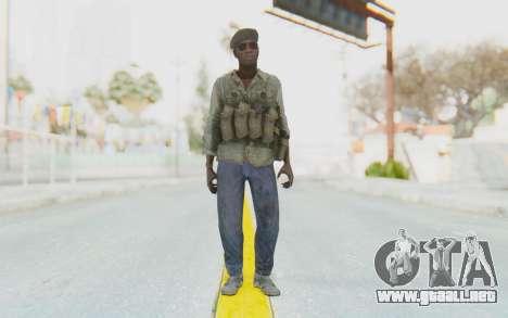CoD MW3 Africa Militia v4 para GTA San Andreas segunda pantalla