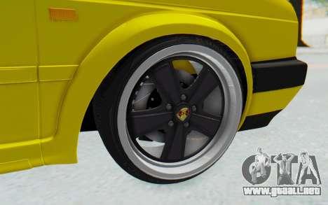 Volkswagen Golf Mk2 Lemon para GTA San Andreas vista hacia atrás