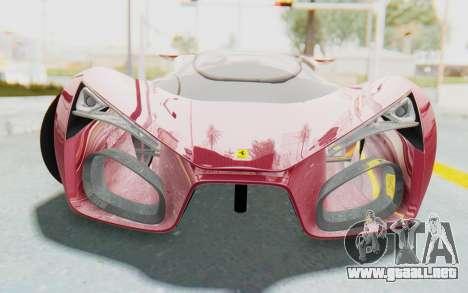 Ferrari F80 Concept para GTA San Andreas vista hacia atrás