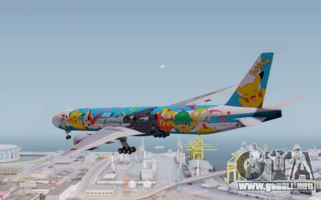 Boeing 777-300ER ZK-OKR para la visión correcta GTA San Andreas