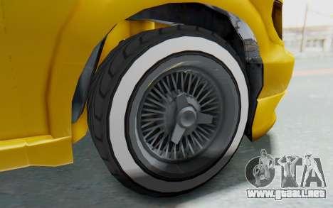 GTA 5 Vapid Minivan Custom IVF para GTA San Andreas vista hacia atrás