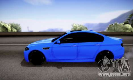 BMW M5 F10 G-Power para vista lateral GTA San Andreas