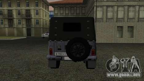 UAZ-469 para visión interna GTA San Andreas