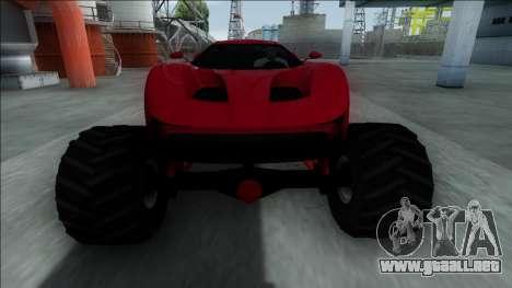 GTA V Vapid FMJ Monster Truck para visión interna GTA San Andreas