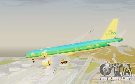 Boeing 777-300ER KLM - Royal Dutch Airlines v3 para la visión correcta GTA San Andreas