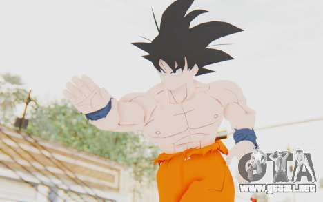 Dragon Ball Xenoverse Goku Shirtless SJ para GTA San Andreas