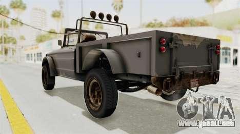 GTA 5 Canis Bodhi Trevor para GTA San Andreas left