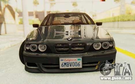 BMW M5 E39 M-Tech USDM para GTA San Andreas vista hacia atrás