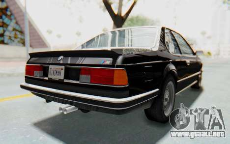 BMW M635 CSi (E24) 1984 IVF PJ3 para GTA San Andreas vista posterior izquierda