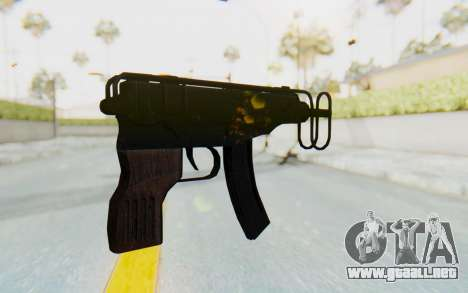 VZ-61 Skorpion Fold Stock para GTA San Andreas segunda pantalla