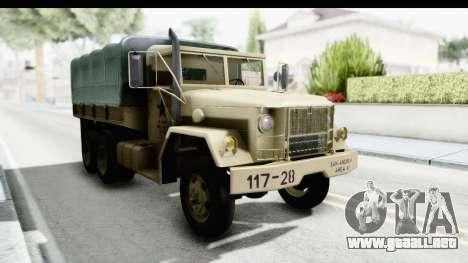 AM General M35A2 Sand para la visión correcta GTA San Andreas