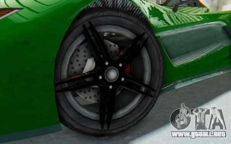 GTA 5 Progen T20 Devil PJ para GTA San Andreas vista hacia atrás