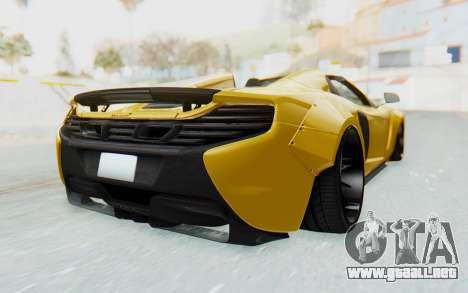 McLaren 650S Spyder ZenWorks para GTA San Andreas left