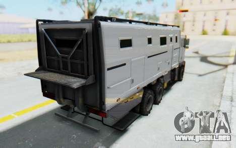 GTA 5 HVY Brickade IVF para GTA San Andreas left
