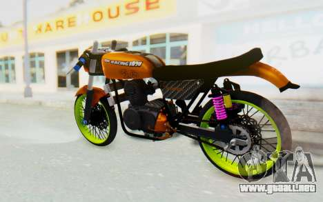 Honda CG125 Roadrace para GTA San Andreas left