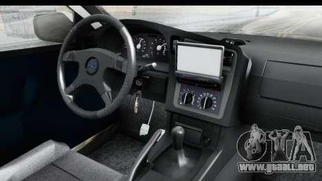 Opel Astra G Variant Polizei Hessen para visión interna GTA San Andreas