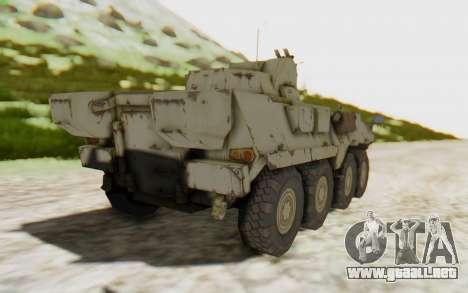 MGSV Phantom Pain STOUT IFV APC Tank v2 para GTA San Andreas left