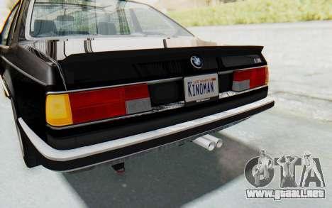 BMW M635 CSi (E24) 1984 IVF PJ3 para GTA San Andreas interior