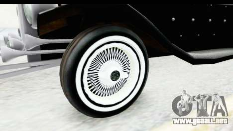 Unique V16 Phaeton VIP para GTA San Andreas vista hacia atrás