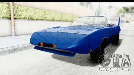 Dodge Charger Daytona 1969 Cabrio para la visión correcta GTA San Andreas