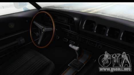 Mercury Cyclone Spoiler 1970 para visión interna GTA San Andreas