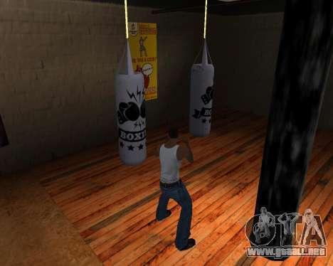 Pera De Boxeo para GTA San Andreas sucesivamente de pantalla