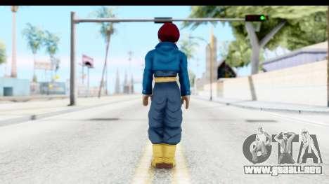 Dragon Ball Xenoverse Future Trunks SSG para GTA San Andreas tercera pantalla