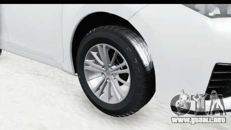 Toyota Corolla 2015 para GTA San Andreas vista hacia atrás