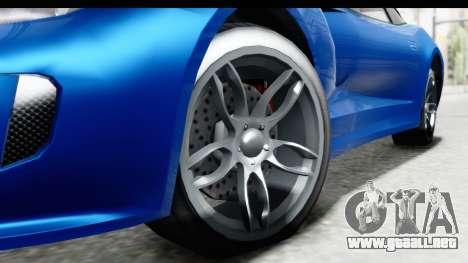GTA 5 Grotti Bestia GTS para GTA San Andreas vista hacia atrás