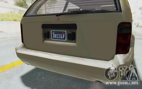 GTA 5 Vapid Minivan Custom without Hydro IVF para vista inferior GTA San Andreas