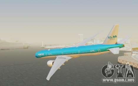 Boeing 777-300ER KLM - Royal Dutch Airlines v2 para GTA San Andreas left