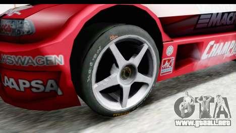 Volkswagen Polo TC2000 Temporada 2005(06) para GTA San Andreas vista hacia atrás