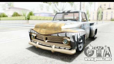GTA 5 Vapid Slamvan Custom para vista inferior GTA San Andreas