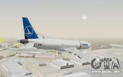 Boeing 777-200 TAROM Romania para GTA San Andreas left