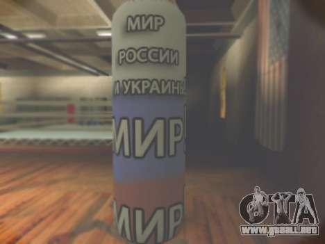 Pera con inscripción mundo de Rusia y Ucrania para GTA San Andreas segunda pantalla