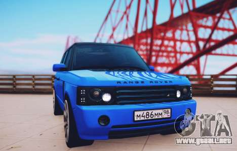 Range Rover Sport Pintoresca para GTA San Andreas vista posterior izquierda