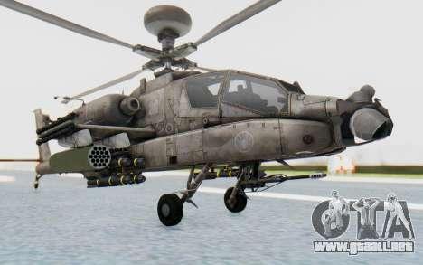 AH-64 Apache Desert para la visión correcta GTA San Andreas