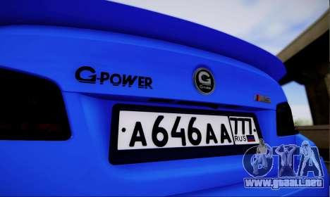 BMW M5 F10 G-Power para la visión correcta GTA San Andreas