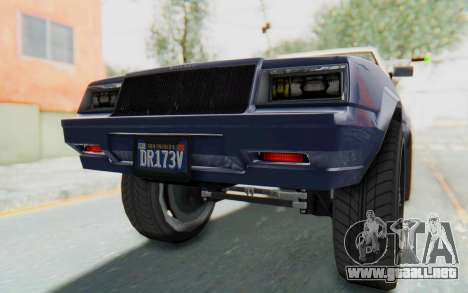 GTA 5 Willard Faction Custom Donk v3 IVF para GTA San Andreas interior