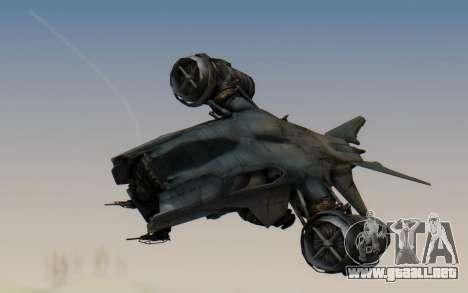HK Aerial from Terminator Salvation para GTA San Andreas vista posterior izquierda