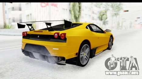 Ferrari F430 SVR para GTA San Andreas left