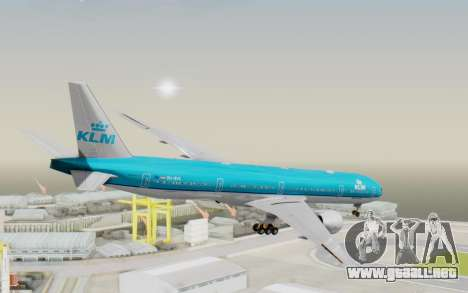 Boeing 777-300ER KLM - Royal Dutch Airlines v3 para GTA San Andreas left