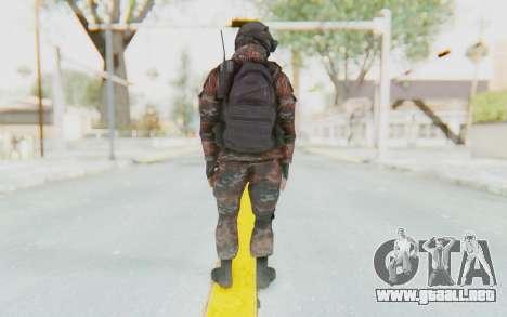 COD MW2 Russian Paratrooper v1 para GTA San Andreas tercera pantalla