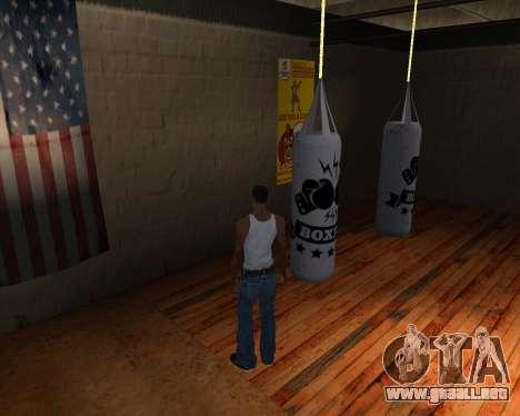 Pera De Boxeo para GTA San Andreas tercera pantalla