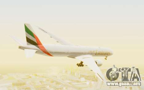 Boeing 777-300ER Emirates para la visión correcta GTA San Andreas