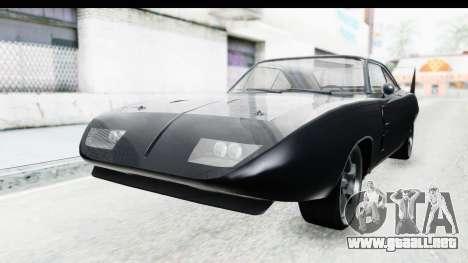 Dodge Charger Daytona F&F para la visión correcta GTA San Andreas