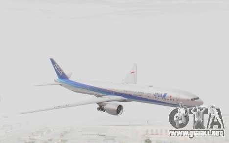 Boeing 777-300ER ANA JA735A para GTA San Andreas vista posterior izquierda