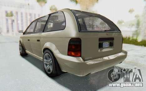 GTA 5 Vapid Minivan IVF para GTA San Andreas left