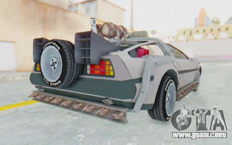 DeLorean DMC-12 2012 End Of The World para la visión correcta GTA San Andreas
