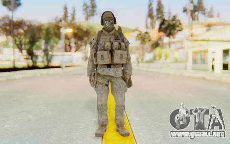 CoD MW2 Ghost Model v2 para GTA San Andreas segunda pantalla